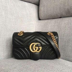 authentic Gucci marmont BLACK BAG